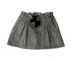 Linen skirt with ribbon.  Made in France and created by Anton et Zea.  Now available at www.claradeparis.com