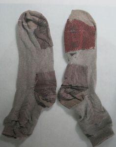 Mended socks.