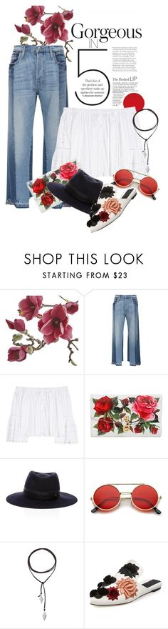 """That vibe"" by solespejismo on Polyvore featuring moda, Crate and Barrel, Frame, Carolina Herrera, Dolce&Gabbana, Maison Michel, Vanessa Mooney, Sanayi 313 y vintage"