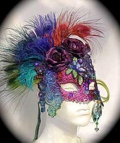 Shy's Decision Masquerade Mask Venetian Art by Marcellefinery Masquerade Costumes, Masquerade Party, Mardi Gras, Venetian Masks, Venetian Masquerade, Venice Mask, Antique Perfume Bottles, Beautiful Mask, Baroque Fashion