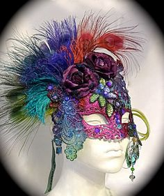 Shy's Decision Masquerade Mask Venetian Art by Marcellefinery