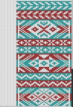 Tricksy Knitter Charts: Traditional Kep Red White Blue by Lisa Cobb Knitting Stiches, Knitting Charts, Knitting Patterns, Fair Isle Chart, Fair Isle Pattern, Tapestry Crochet Patterns, Pixel Crochet, Fair Isle Knitting, Knitting Accessories