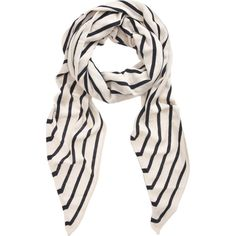 """The Row Twisting Penny Scarf - Navy/Ivory ($400) 