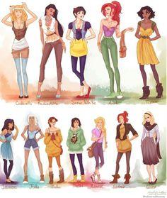 'Modern' Disney princesses