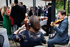 Playing outside for a summer wedding on the terrace of the Belvedere Suite.  Perfect for live music next to the drinks station.