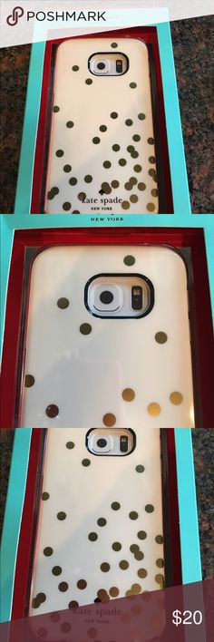 NIB Kate Spade case for Samsung galaxy S6 New inbox Kate Spade New York hybrid hardshell case for Samsung galaxy S6 edge kate spade Accessories Phone Cases