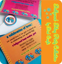 BOLLYWOOD BLING Party Collection - Hindi Print