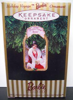 Hallmark Keepsake Ornament; Holiday Voyage Barbie. 1998.