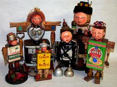 more assemblage art character dolls