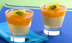 Taça cremosa de tangerina