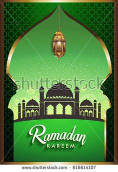 Ramadan greetings background, Elegant element for design template, place for text greeting card for Ramadan kareem.