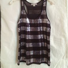 Top Brown and silver sequined top Forever 21 Tops