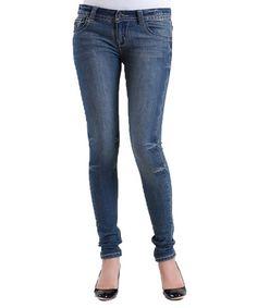 Another great find on #zulily! Medium Blue Skinny Jeans #zulilyfinds