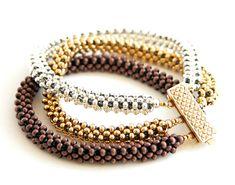 Beading Tutorial  Trinity Metal Bead Bracelet by beadsforever, $8.50