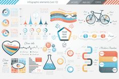Posted by @newkoko2020 Infographic Elements (v13) by Infographic Paradise on @creativemarket