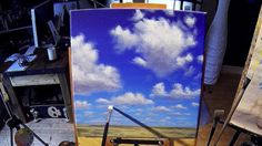Simple Cumulus Clouds - Acrylic Painting Lesson - €10.00 #onselz