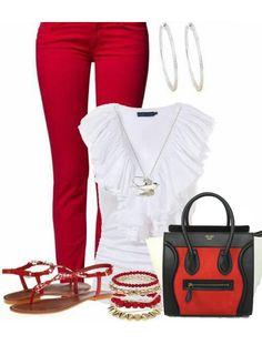 Celine Trapeze Leather Handbag Red | Fashion | Pinterest | Celine ...