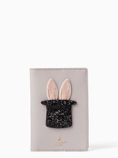 Rabbit And Cat Christmas Yard Leather Passport Wallet for Passport Holder for Safe Trip durable Easy to Carry