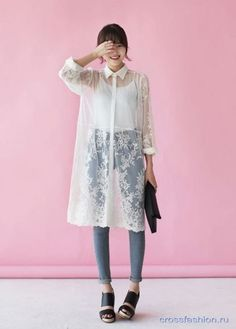 Korean Fashion – How to Dress up Korean Style – Designer Fashion Tips Diy Outfits, Mode Outfits, Korean Outfits, Sexy Lace Dress, Dress Up, Dress Shirt, Asian Fashion, Look Fashion, Fashion Styles