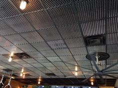 Cool drop ceiling from expanding metal grate: