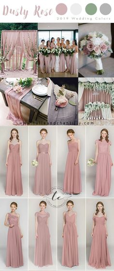 599b2cb2 2019 wedding colors trend - dusty rose bridesmaid dresses #wedding  #weddinginspiration #bridesmaids #
