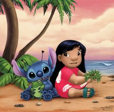 Lilo and Stitch by Diana Lebedeva / Diablera