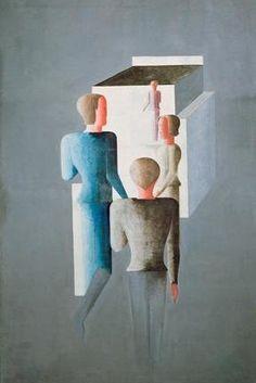 Oskar Schlemmer, Vier Figuren und Kubus #Oskar #Schlemmer #weewado #oskar #schlemmer #bauhaus #german #art