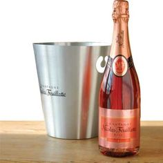 Pink Rose Champagne | Nicolas Feuillatte Rose Champagne and Ice Bucket