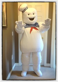 Stay Puft Marshmallow man costume made by Pumpkin Queen Costumes