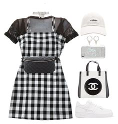 """Justine"" by lalagenue ❤ liked on Polyvore featuring NIKE, Forever 21, Chanel, Charlotte Russe and Rebecca Minkoff"