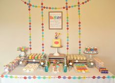 Claire's Rainbow 2nd Birthday Party | CatchMyParty.com