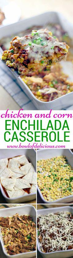 chicken and corn enchilada casserole