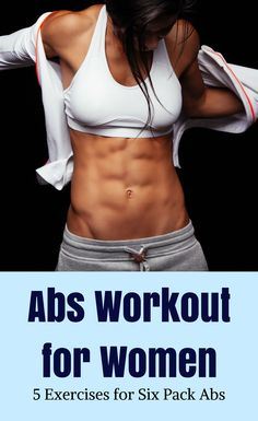 Six Pack Abs Workout for Women Lose belly fat with these 5 ab exercises Exercise For Six Pack, Six Pack Abs Workout, Abs Workout For Women, 6 Pack Abs For Women, Workout Bodyweight, Night Workout, Healthy Exercise, Workout Exercises, Interval Training