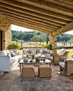 Trendy Rustic Outdoor Furniture Back Yards Covered Patios Ideas Modern Outdoor Furniture, Outdoor Rooms, Outdoor Living, Yard Furniture, Modern Patio, Antique Furniture, Teak Furniture, Furniture Ideas, Indoor Outdoor