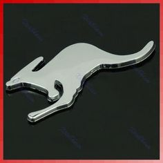Silver 3D kangaroo Car Truck Emblem Badge Decal Sticker