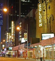 The Golden Theatre, Bernard B. Jacobs Theatre, Gerald Schoenfeld Theatre and Booth Theatre on West Street in Manhattan's Theater District Broadway News, Broadway Theatre, Broadway Plays, Movie Theater, Bernard B Jacobs Theatre, Last Tango In Paris, New York Theater, Cinema