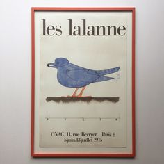 Francois - Xavier Lalanne, Giclee reprint, made after the original poster from 1975 - Bendtsens - Katina Skilling Cactus Wall Art, Cactus Print, Bird Poster, All Poster, Cactus Photography, Georges Braque, Online Printing Services, Exhibition Poster, Modern Prints