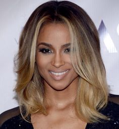 How I imagine my ombré look. I love the placing of the blonde. No harsh line. Natural brown at top or a smidge lighter to blonde. A little extra blonde in front, framing the face. #PetuniasOmbre.