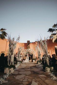 Winter wedding in Texas, aisle decor inspiration