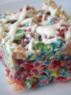 cereal bars -- Tony always wants me to buy the prepacked ones.  You can make them out of any cereal (I have some made with fruit loops right now).  I just use the rice krispies treats recipe.