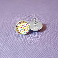 Party Rainbow Spot Polka Silver Plated by NicolesJewelleryAUS #Nicolesjewellery #handcraftedjewellery #etsyaustralia #etsystore #etsyseller #etsyau #NewDesigns #BuyNow #AvailableNow #Jewellery #Earring