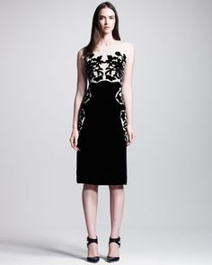 Devore/Chiffon Dress by Bottega Veneta at Neiman Marcus.