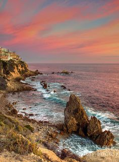 Corona Del Mar Coastline by Eddie Yerkish