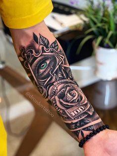 The Best Sleeve Tattoos Of All Time - TheTatt Clock Tattoo Sleeve, Half Sleeve Tattoos Forearm, Geometric Sleeve Tattoo, Tattoos Geometric, Forarm Tattoos, Cool Forearm Tattoos, Best Sleeve Tattoos, Sleeve Tattoos For Women, Tattoo Sleeve Designs