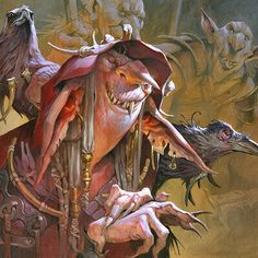 Magic the Gathering — Jesper Ejsing Illustration High Fantasy, Fantasy Art, Fantasy Races, Mtg Art, Scary Art, Unicorn Art, Robot Art, Art Background, Drawing Tutorials