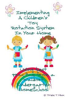 Childrens Toy Rotation System