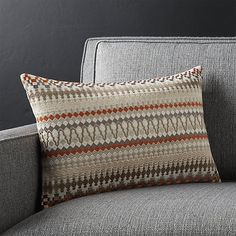 """Karma 18""""x12"""" Pillow with Feather-Down Insert - Crate & Barrel.  $39.97 on sale."""