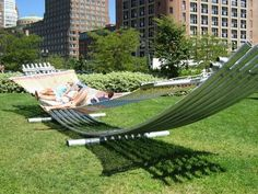 The Big Hammock at the Rose Fitzgerald Kennedy Greenway, Boston MA