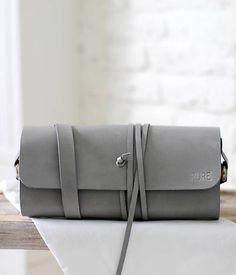 PURE / Listová kabelka na rameno MINI WIDE GREY