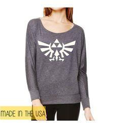 Zelda Triforce Sweatshirt, Legend Of Zelda shirt, Link, Legend Of Zelda, Gamer, Geek on Etsy, $35.00